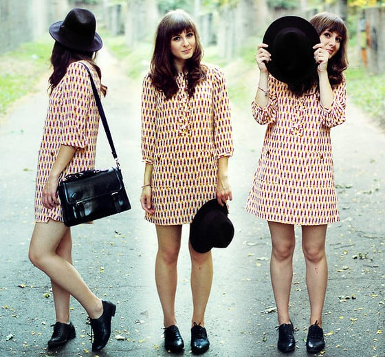 Look vintage com oxford preto