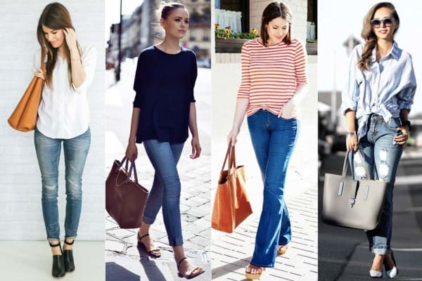 Looks com calça jeans e bolsa tote