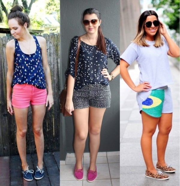 Looks com shorts e docksides