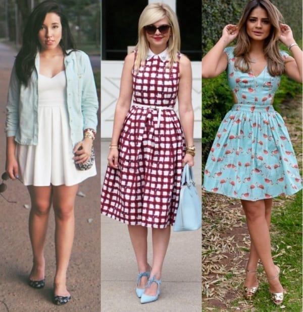 Modelos de vestidos rodados