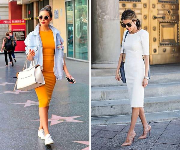 Looks despojados e sociais com Modelos de vestidos tubinhos