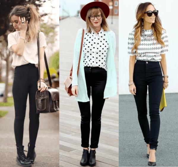 Looks estilosos com calças pretas skinny