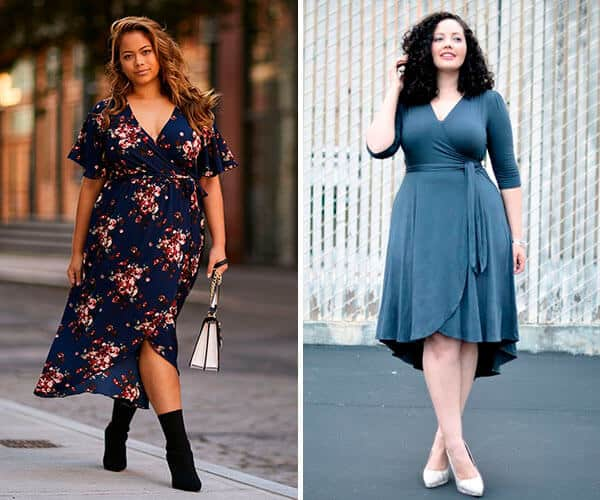 Looks plus size com Modelos de vestidos envelopes