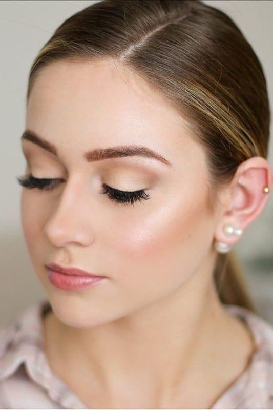 Maquiagem neutra para usar com qualquer cor de vestido para casamento