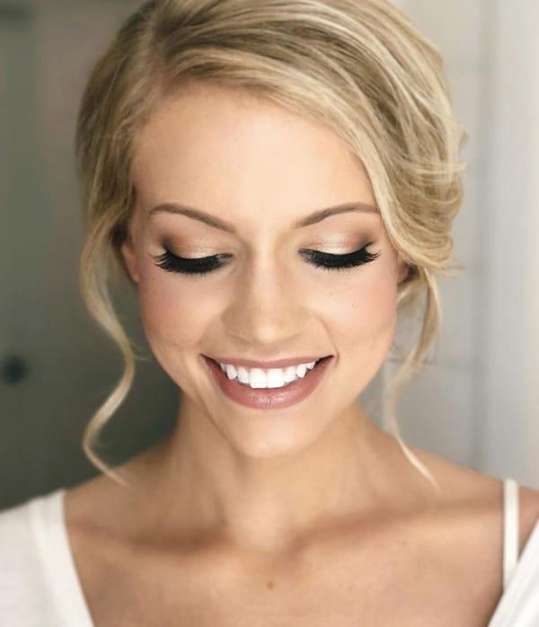 Maquiagem simples para noiva se casar de dia