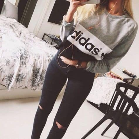 Meninas Tumblr adoram a marca Adidas