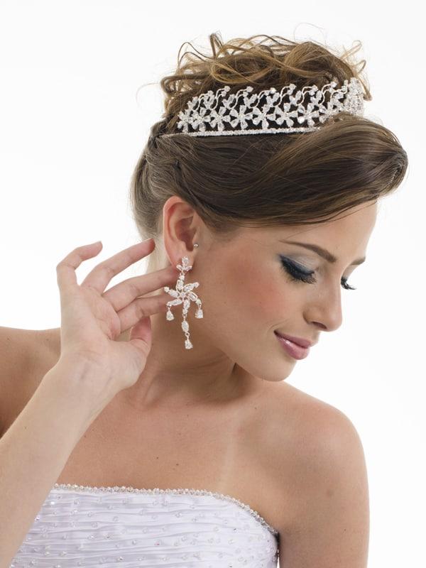 Modelo de coroa floral prateada
