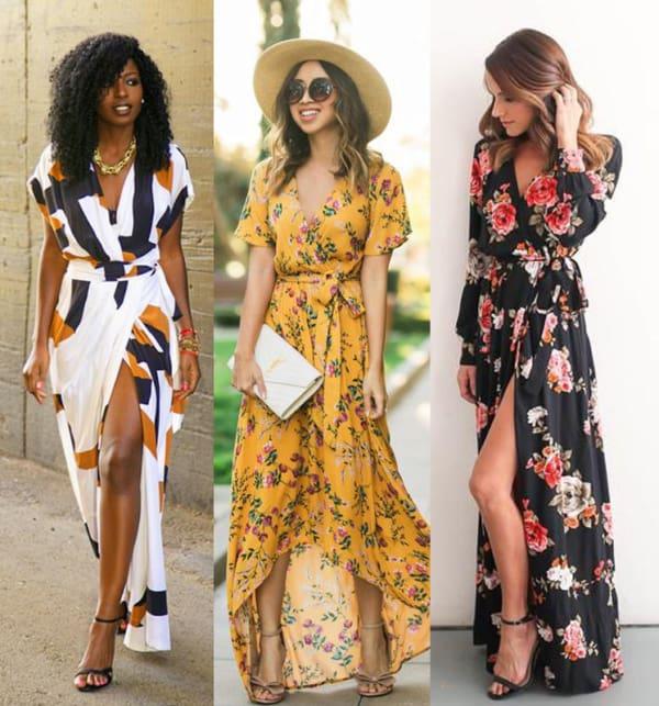 Modelos de vestidos envelopes com estampas