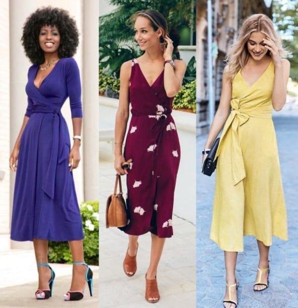 Modelos de vestidos midi envelopes