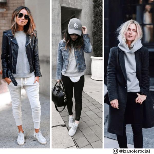 Moletom cinza para usar embaixo de jaquetas e casacos
