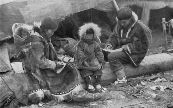 Parkas dos esquimós do ártico canadense