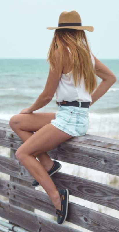 Short curtinho para usar no verão com dockside feminino