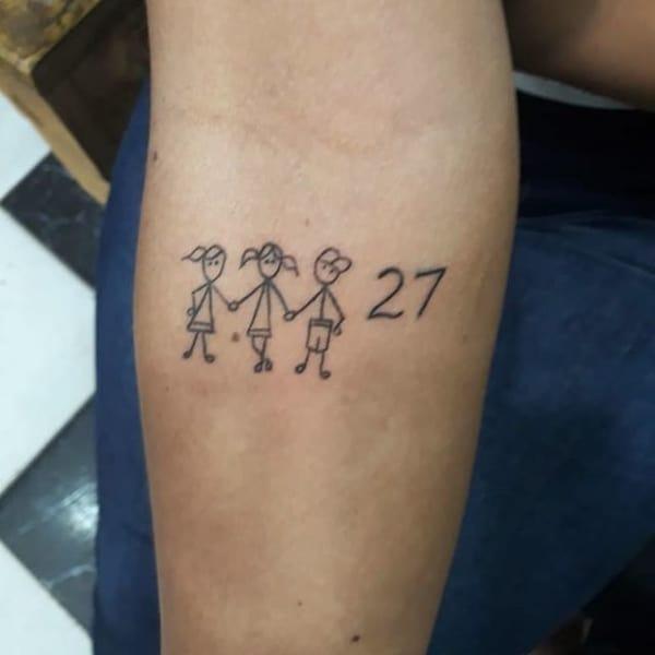 Tatuagens de bonecos palitos