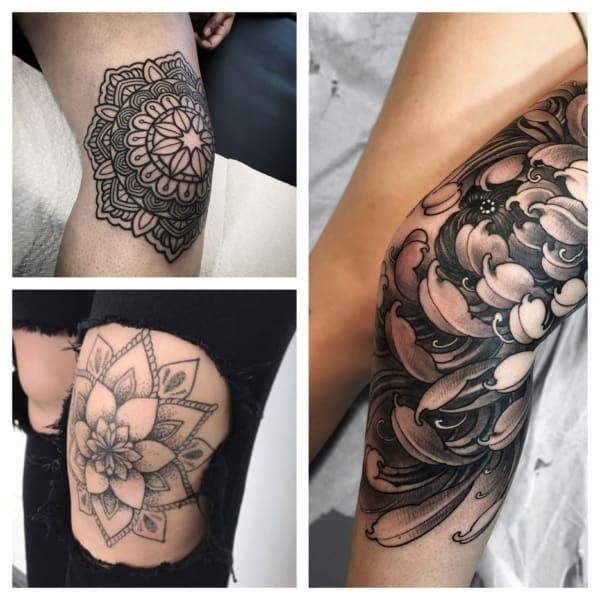 Tatuagens no Joelho feminino