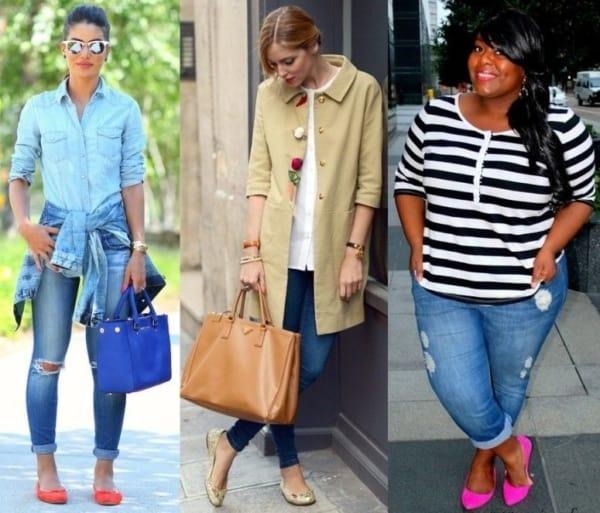 Três looks com skinny jeans e sapatilha