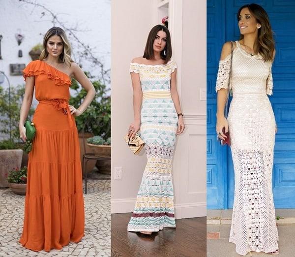 Três modelos de vestidos longos para diversas ocasiões 1