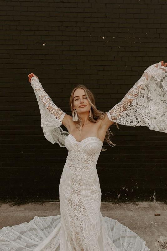 Vestido de noiva diferente cor off white