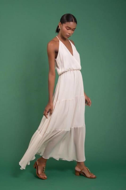 Vestido de verão longo off white