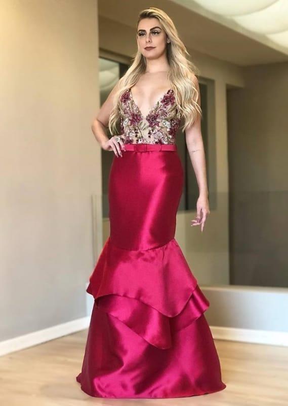 Vestido sereia para festas