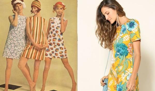 Vestidos estampados anos 60