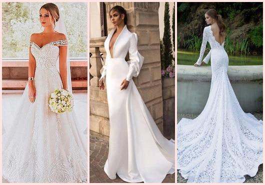 Vestidos longos de noiva para casar na igreja