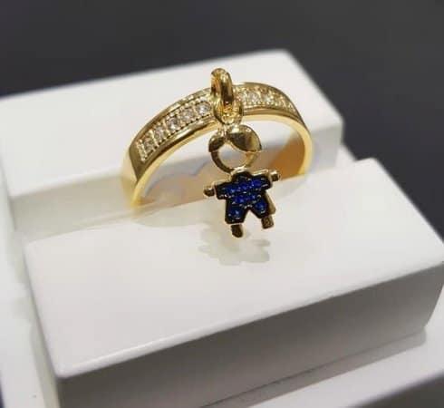anel com pingente filho