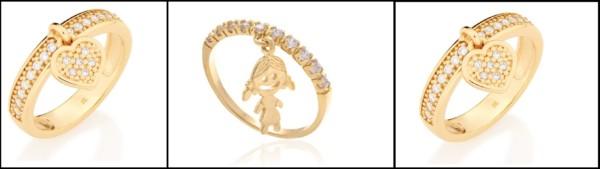 anel com pingente rommanel