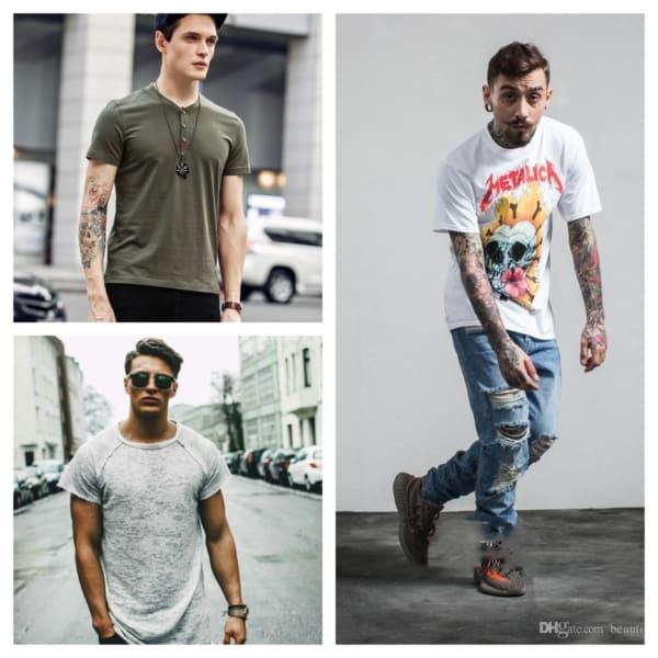camisetas masculinas estilosas modelos