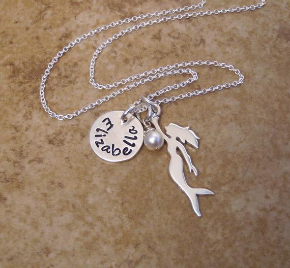 colar de sereia com nome de prata