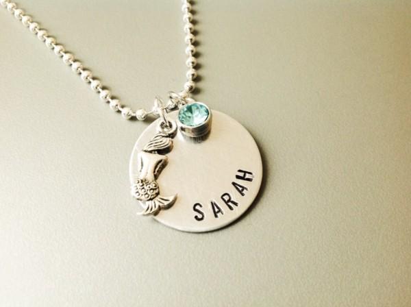 colar de sereia com nome