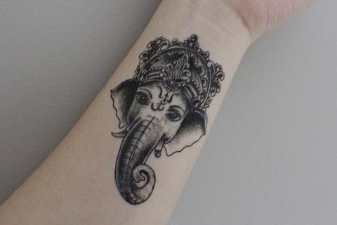 como fazer Tatuagem Ganesha no braço