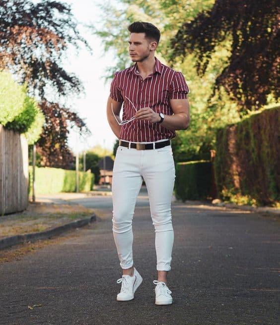 como usar tênis branco masculino em look formal