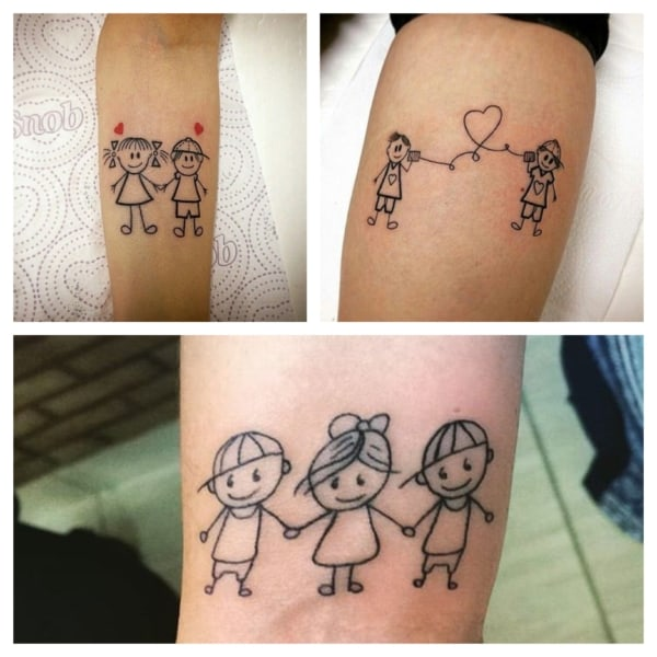 ideias de tatuagem de bonequinhos