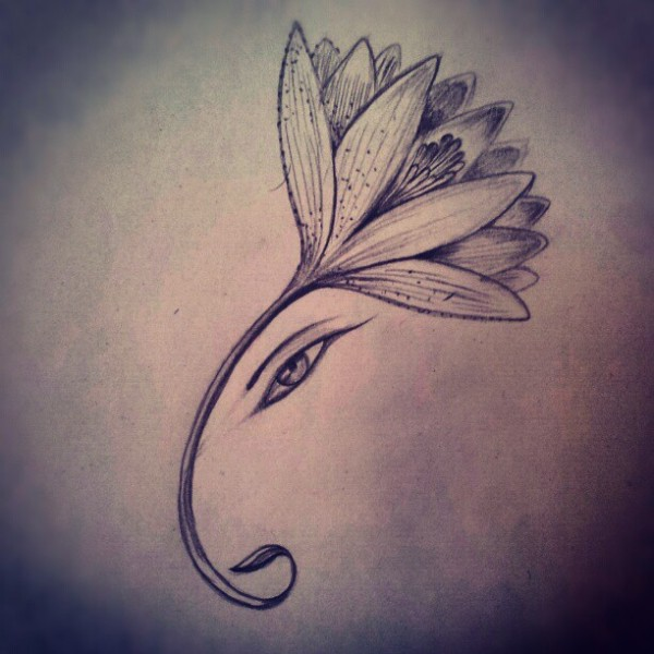 linda Tatuagem Ganesha