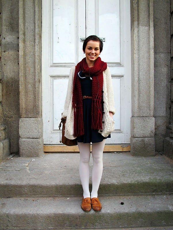 meia calça branca com vestido curto