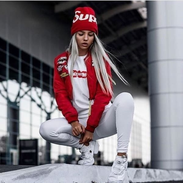 streetwear feminino supreme
