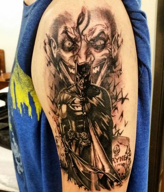 tatuagem Batman e Coringa conceitual