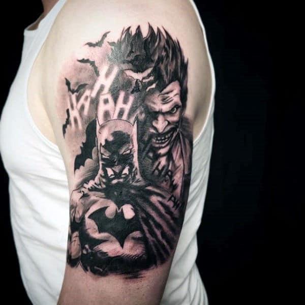 tatuagem Batman e Coringa grande