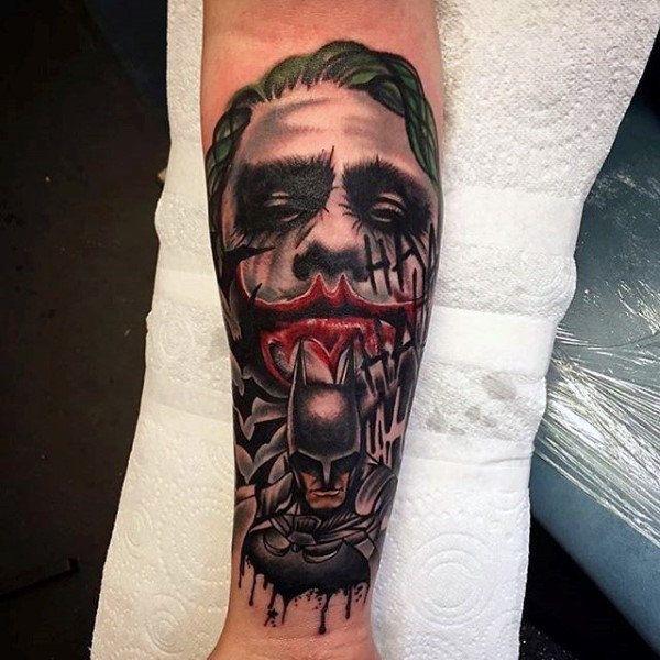 tatuagem Batman e Coringa