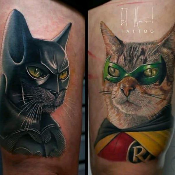 tatuagem Batman e Robin