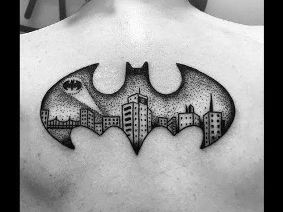 tatuagem Batman nas costas