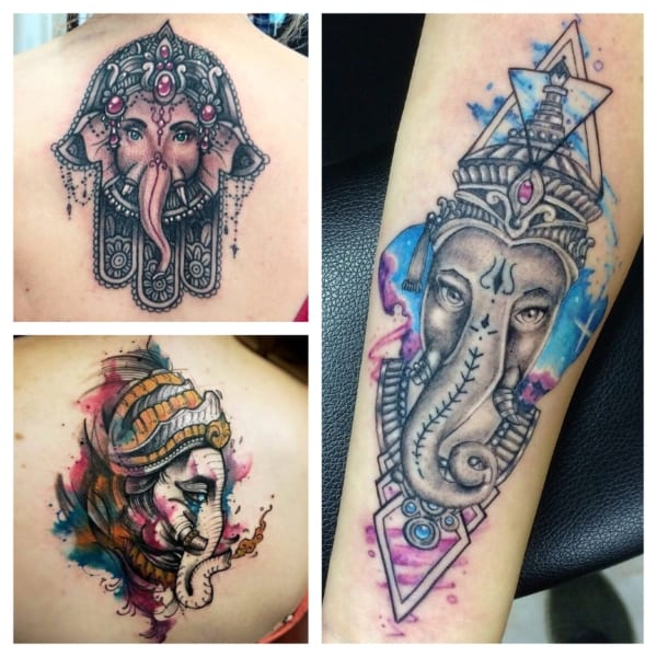tatuagem Ganesha modelos