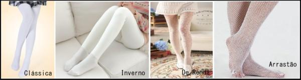 tipos de meia calça branca 1