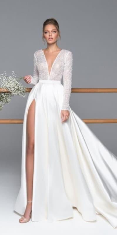 vestido de noiva com mangas longas 39
