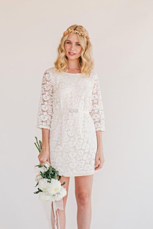 vestido de noiva curto simples 05