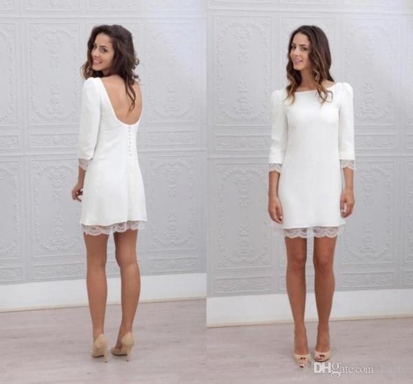vestido de noiva curto simples 07