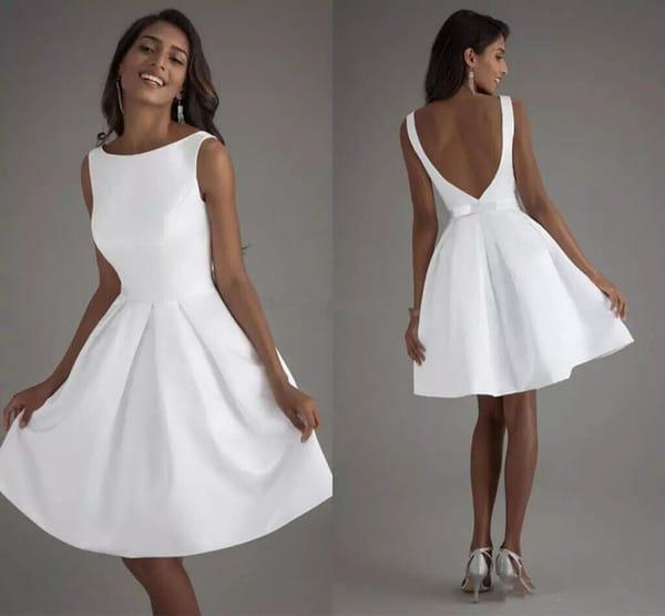 vestido de noiva curto simples 08