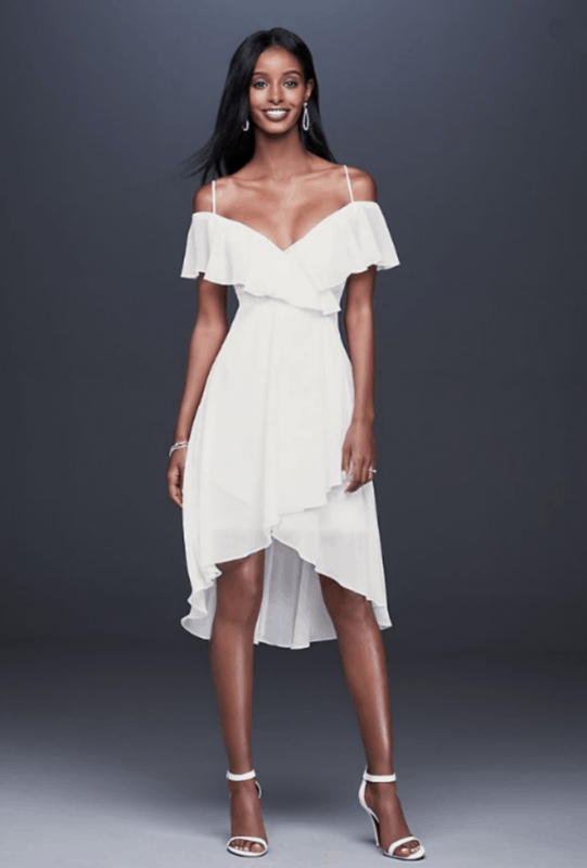 vestido de noiva curto simples 10