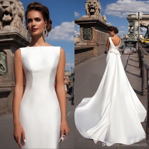 vestido de noiva elegante e simples 43