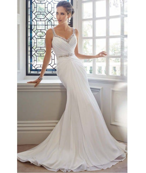 vestido de noiva elegante e simples 47